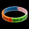 多色矽膠手環