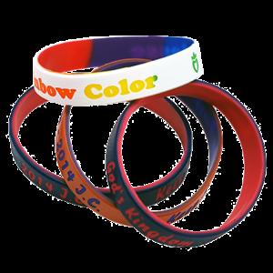 雙色矽膠手環