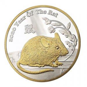 公模鼠年紀念幣